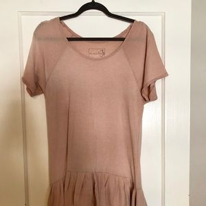 We the Free from Free People Pink T-Shirt Dress